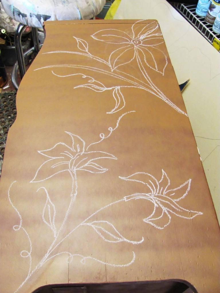 Carved Nightstand - dremel craft ideas