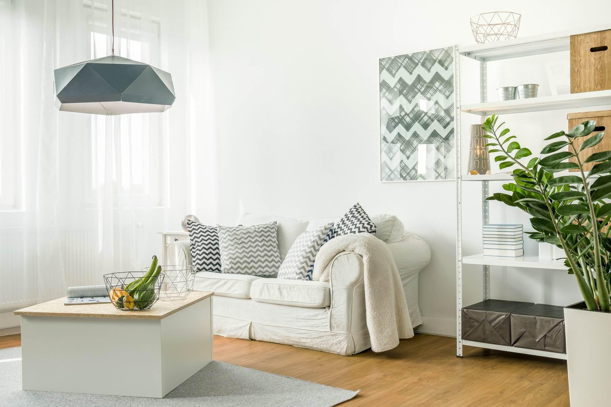 Geometric Light Pendants - Living Room Decor Ideas