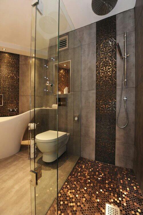 Shimmering Tiles - Shower tile ideas