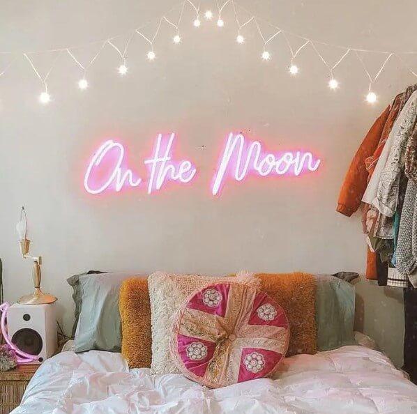 Cute Neon Headboard Sign