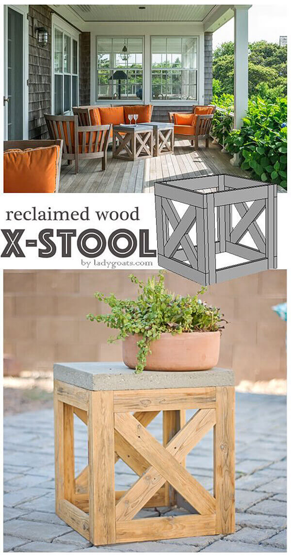 Cube Outdoor Stools