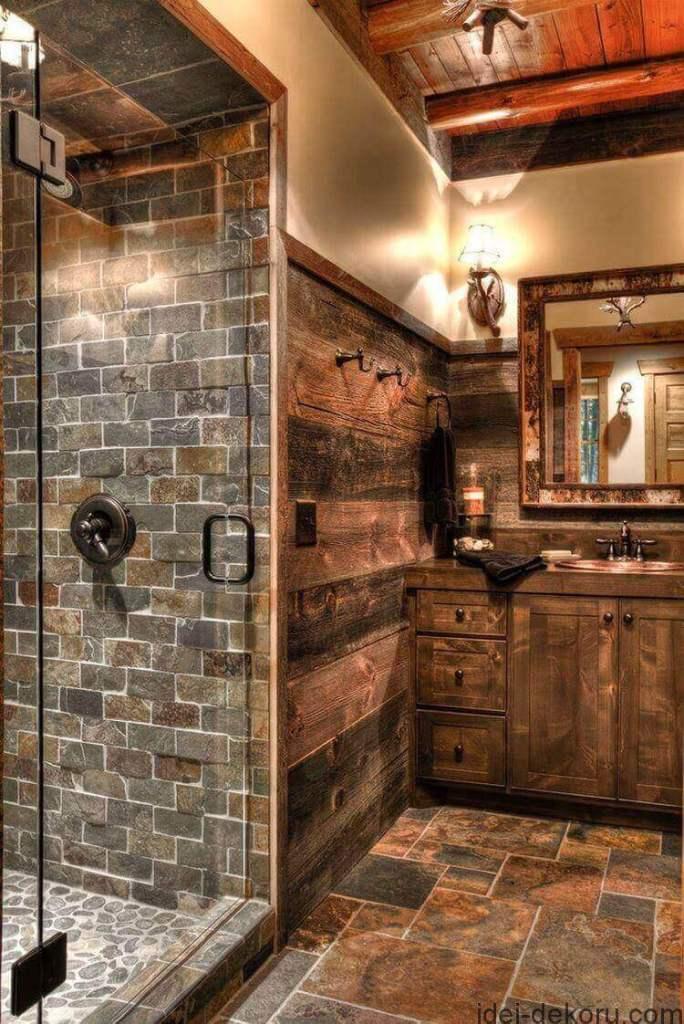 Rugged Stone Tiling - Shower tile ideasa
