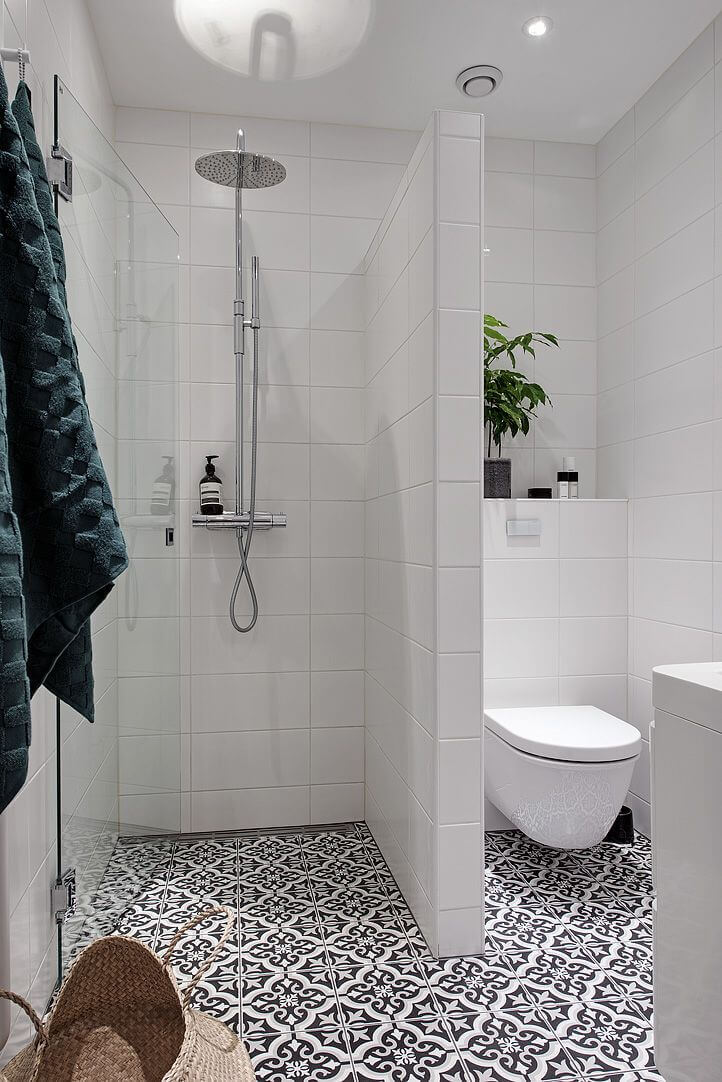 Black and White Patterned Cement Tiles