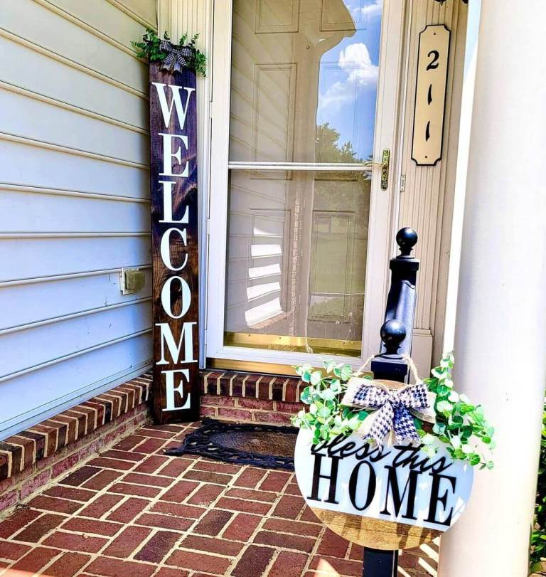 High Welcome Sign & Door Hanger Sayings (2)