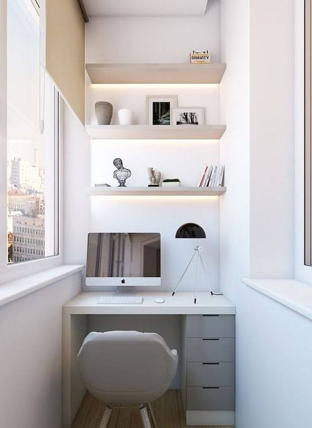 Narrow Office Space At Home