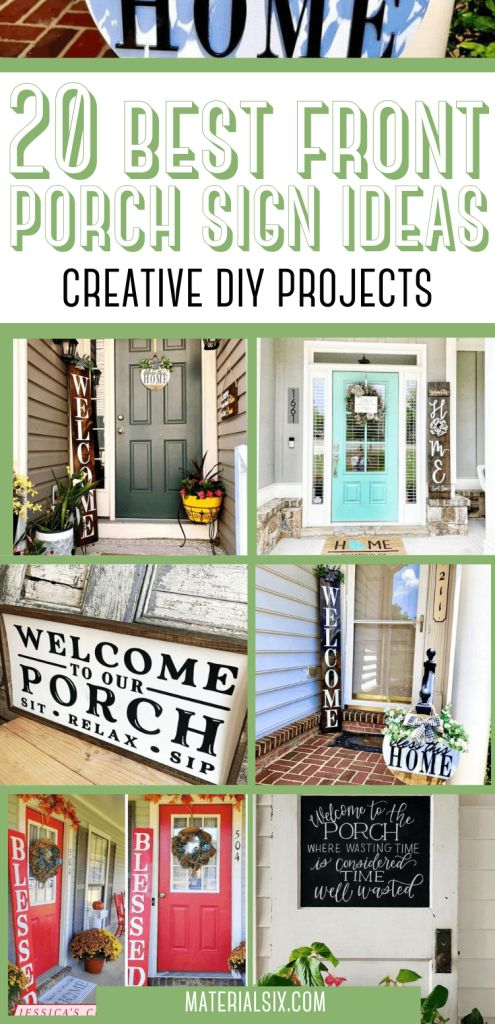 20 Best Front Porch Sign Ideas & Creative DIY Projects