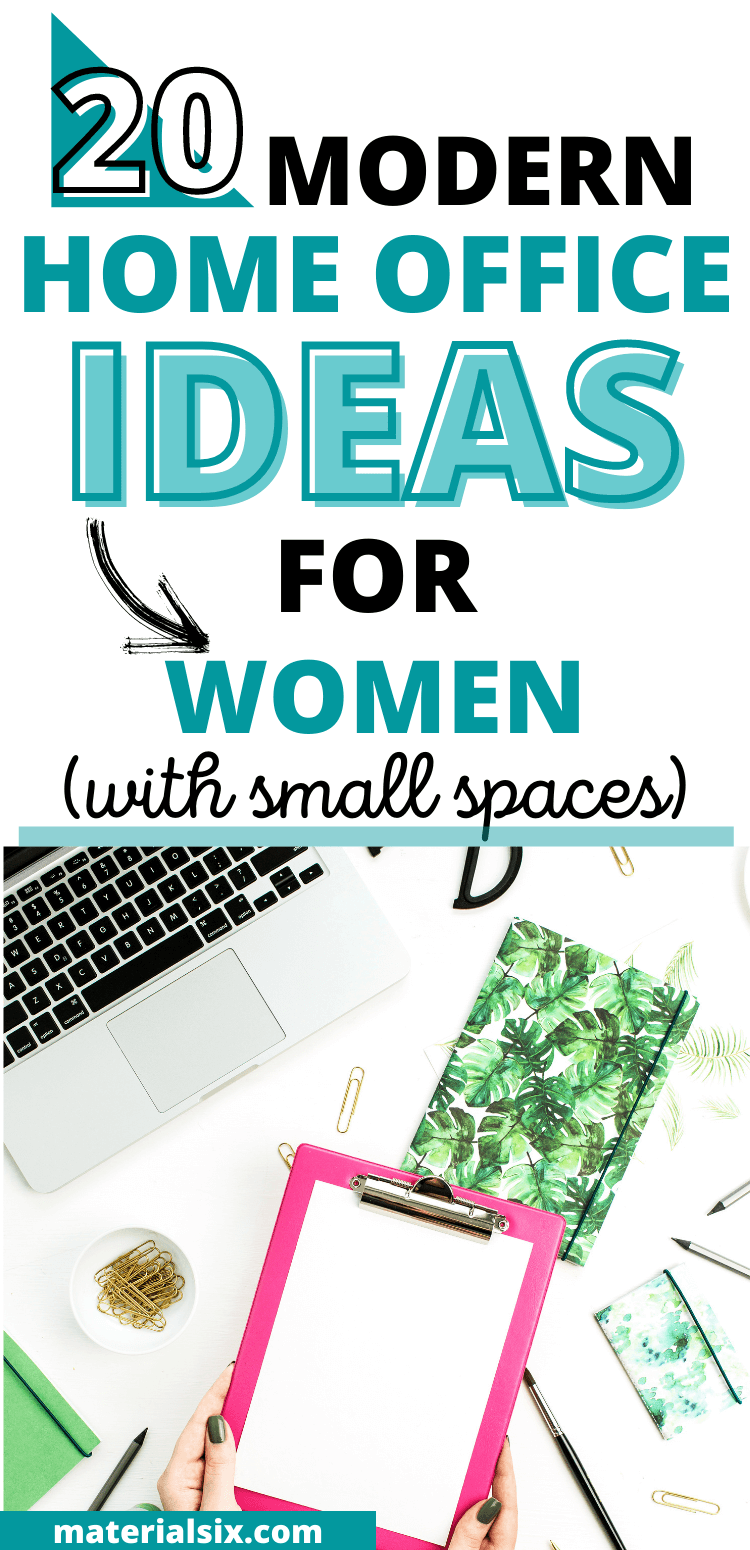 Modern Home Office Ideas for Women (with Small Spaces)