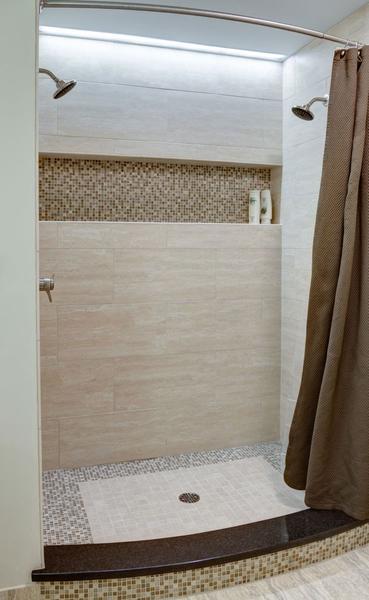 Brown Palette Mosaic Tile - Shower tile ideas
