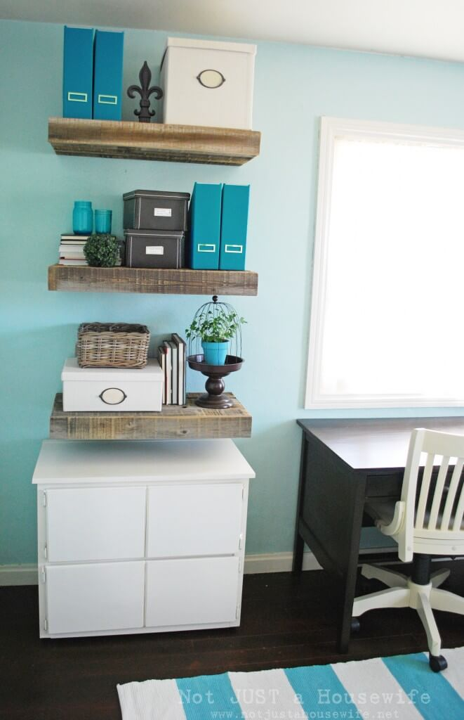 Floating Organizing Area - recycled wood projects