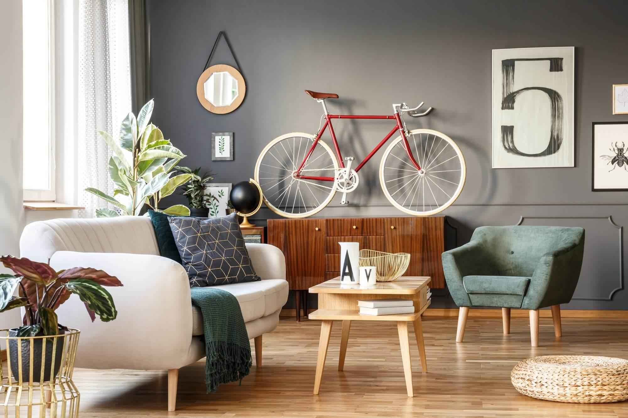 Bicycle as Decor - Living Room Decor