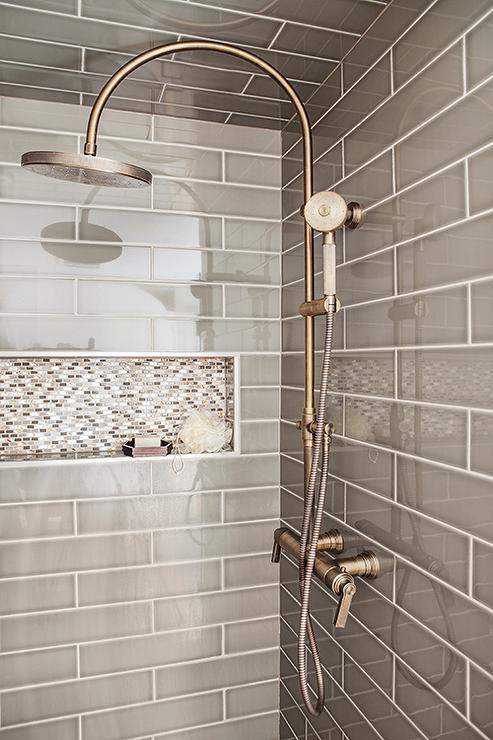 Vintage Shower Tile Ideasin Gray