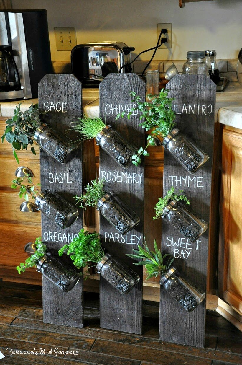 Fence Board Herb Planter