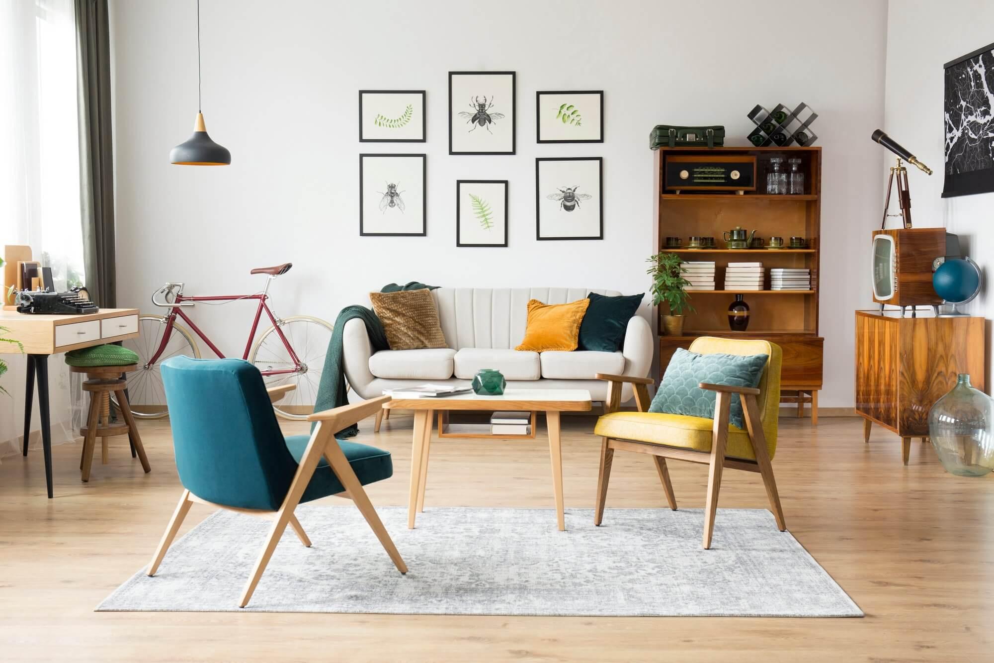 Mid-Century Modern - Living Room Decorating Ideas