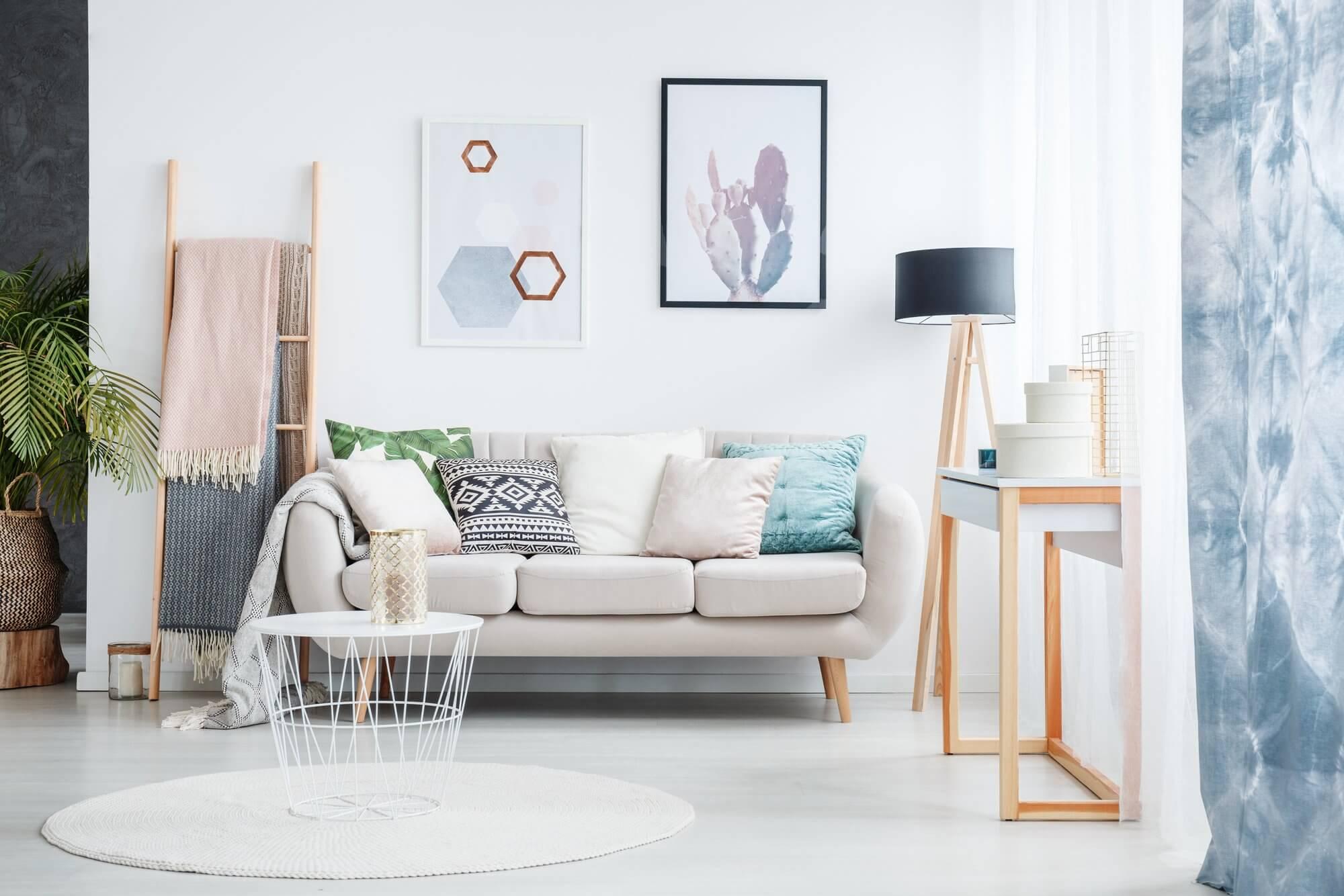 Geometric Wall Art - Living Room Ideas On A Budget