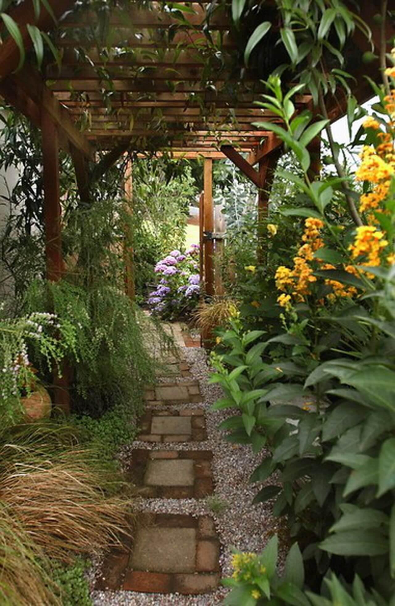 Side Yard for Narrow Garden
