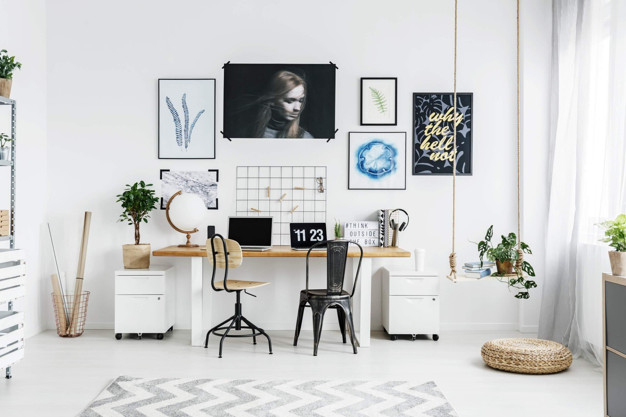 Woman Artwork - Feminine Home Office Ideas
