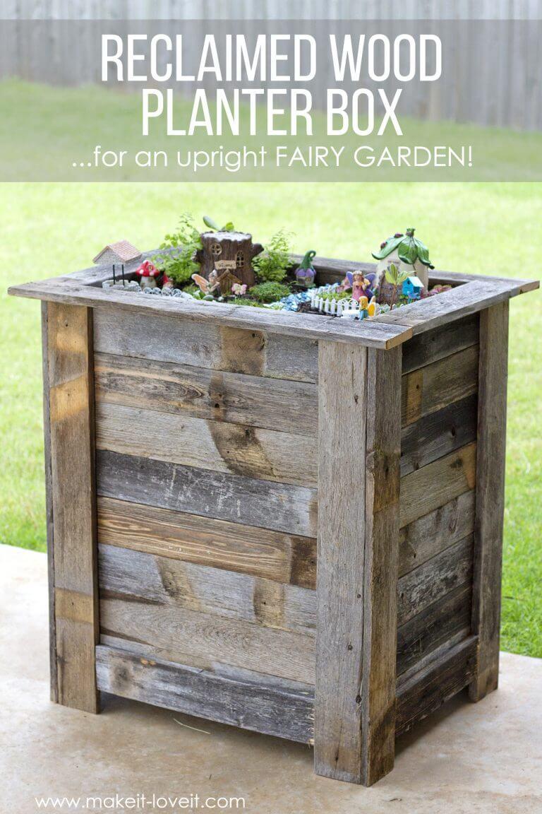 Repurposed Wood Ideas for Fairy Theme Garden