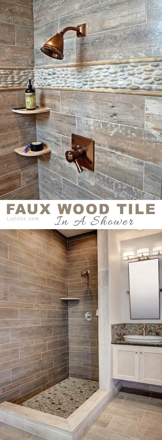 Faux Wood and Inlaid Stone Tiling - faux-wood-tile