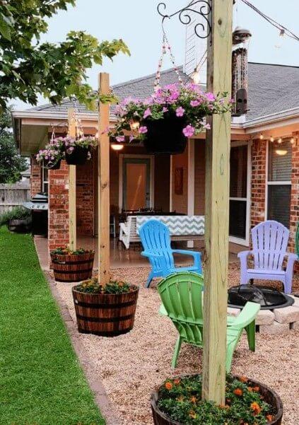 Vertical Garden Beside Front Yard Porch