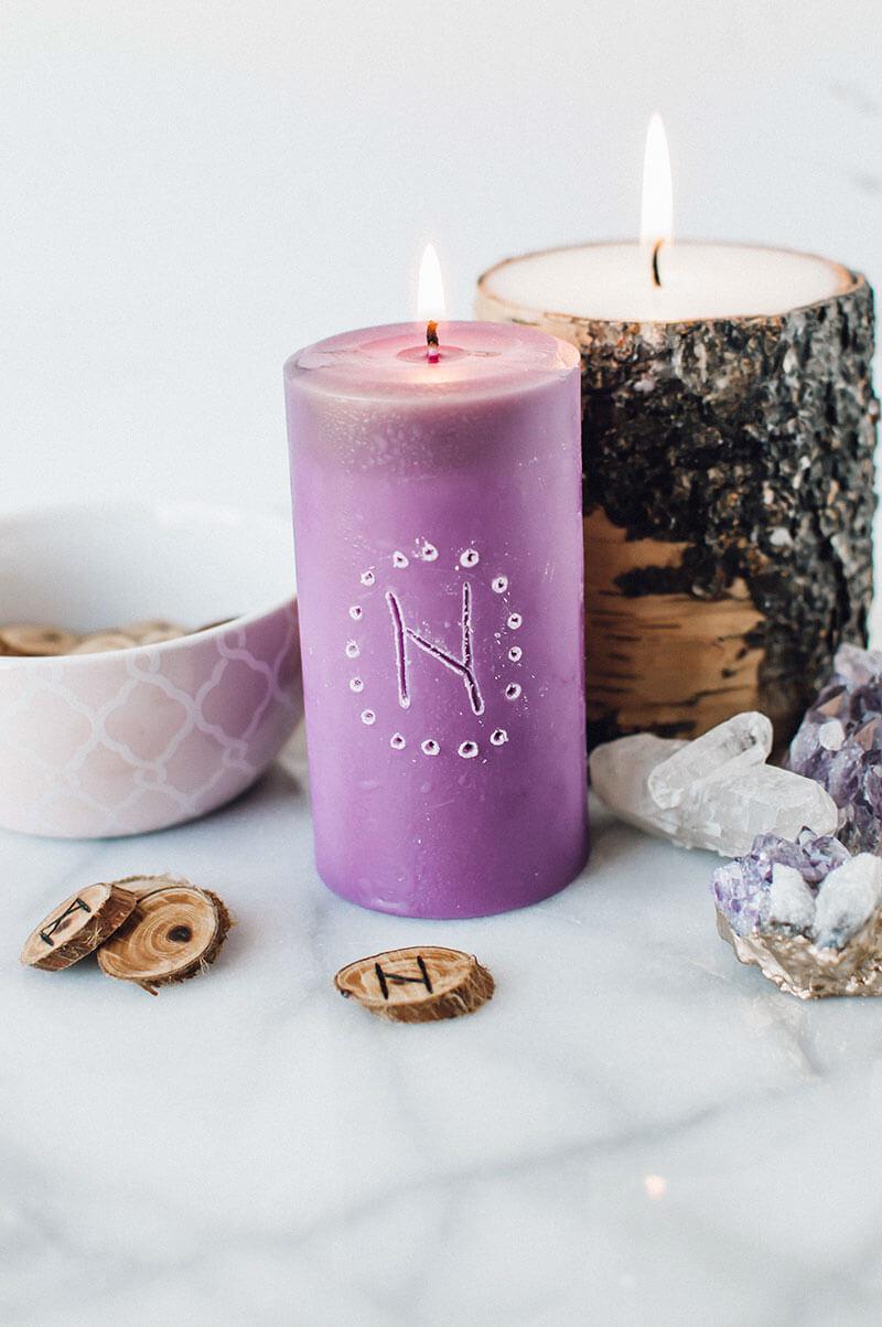 Engraved Candles - dremel craft ideas