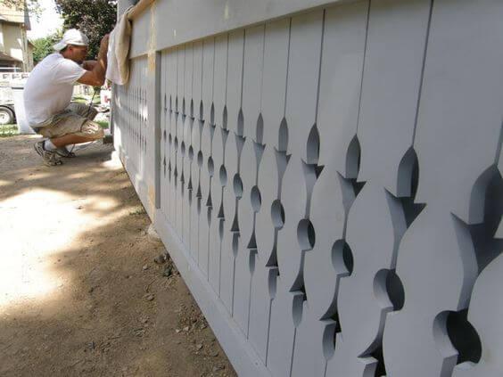 The simplicity of patterned Wooden Plank - porch lattice arternatives