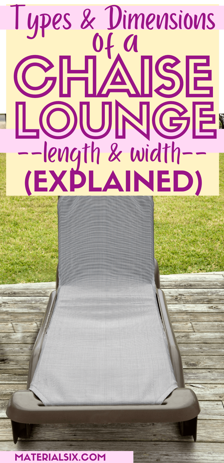 Types and Dimensions of a Chaise Lounge (Length and width) (3)