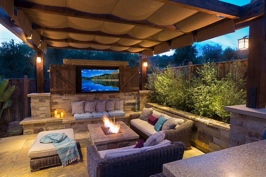 Fire Pit Under Covered Patio