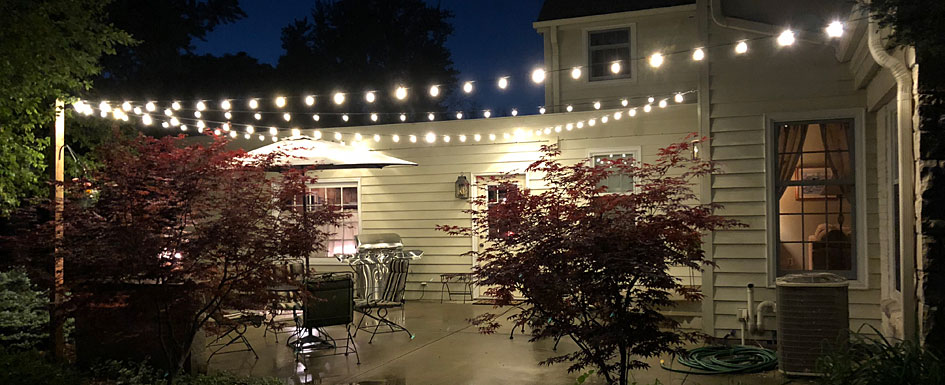 How to cut patio string lights 2