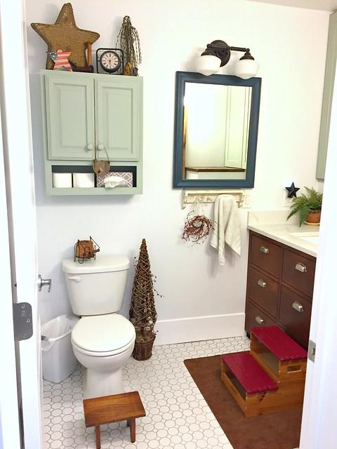 how to convert laundry room into bathroom