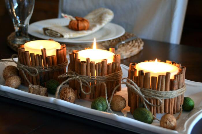 DIY cinnamon candles