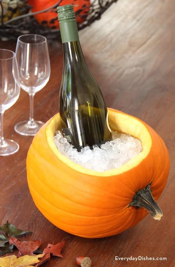 Pumpkin as a wine cooler - Pumpkin-ice-bucket-