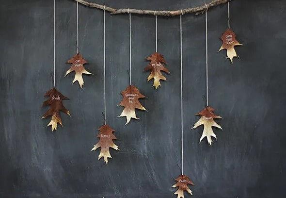 Personalized leaf garland