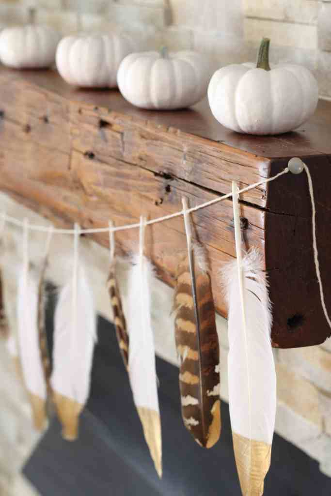 Real feather garland