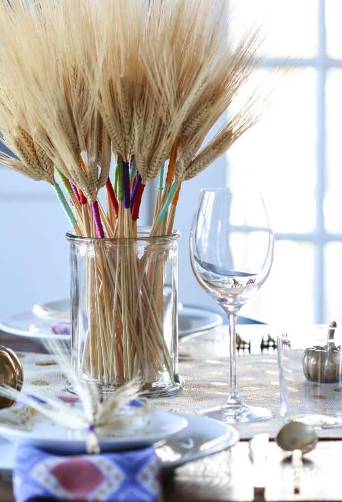 Thread and wheat - modern-thanksgiving-decor