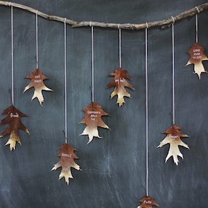 Personalized leaves - Gold leaves garland